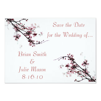 Save the Date, cherry blossom Card