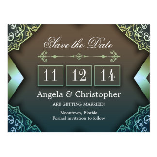 save the date chic vintage postcards