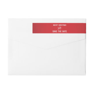Save The Date Christmas Wraparound Address Labels Wraparound Return Address Label