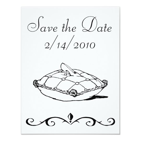 Save the Date Cinderella Slipper Art Invitations