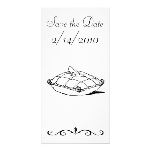 Save the Date Cinderella Slipper Fairytale Art Photo Greeting Card