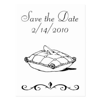 Save the Date Cinderella Slipper Fairytale Art Postcard