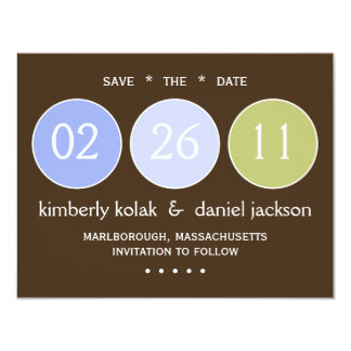 """Save the Date"" Circles Card"