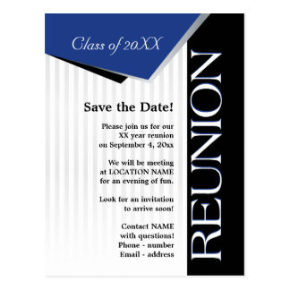 Save the Date Class reunion Postcard