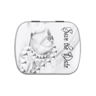 Save the Date Classic Diamond Engagement Ring Candy Tin