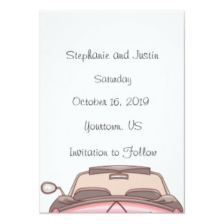 Save The Date Convertible Car Card