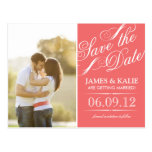 SAVE THE DATE | CORAL POST CARD