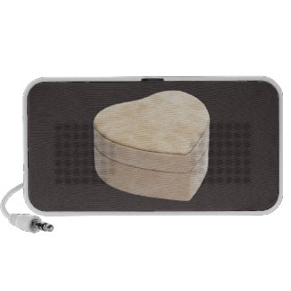 Save the Date Cream Heart iPhone Speakers