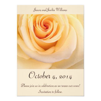 Save the date! Creme Rose Card
