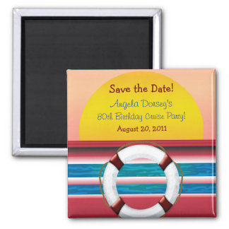 Save the Date Cruise Birthday Magnet