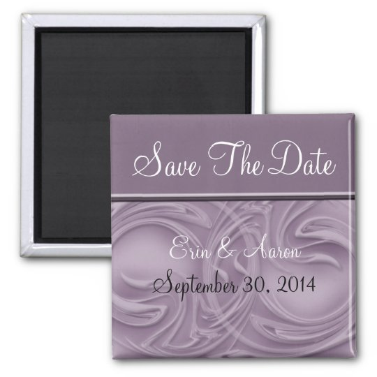 """""""Save the Date"""" Curls Over Purple Magnet"""