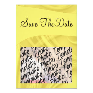 """""""Save the Date"""" Curls Over Yellow Card"""