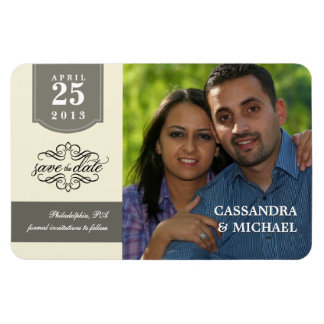 Save the Date - Custom Photo Magnet