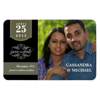 Save the Date - Custom Photo Wedding Announcement Vinyl Magnets