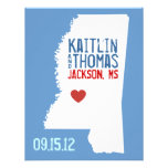Save the Date - Customisable - Mississippi Personalised Invitation