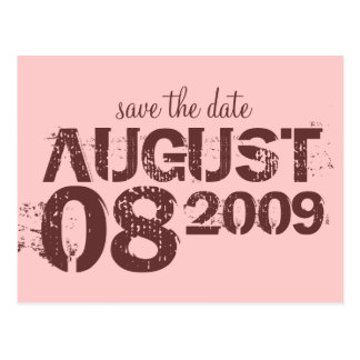 save the date - customise post card