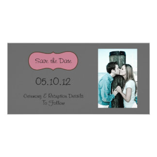 Save the date customised photo card