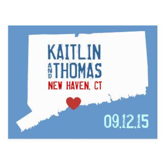 Save the Date - Customizable - Connecticut Postcard