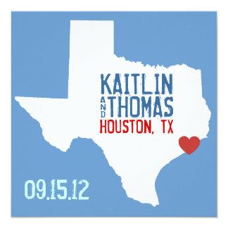 Save the Date - Customizable - Texas Card