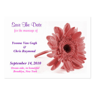 Save The Date Daisy Dusty Rose I Business Card Template