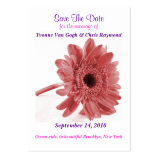Save The Date Daisy Dusty Rose Pack Of Chubby Business Cards