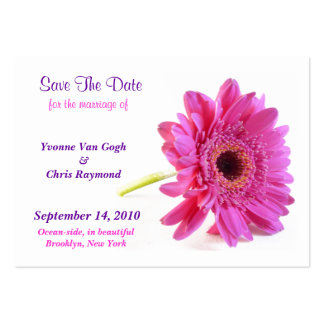 Save The Date Daisy Pink I Pack Of Chubby Business Cards
