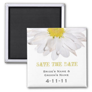 Save The Date - Daisy Wedding Magnet