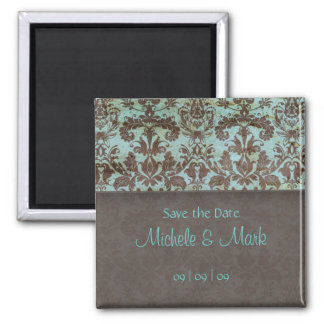 Save the Date Damask Magnet 2b