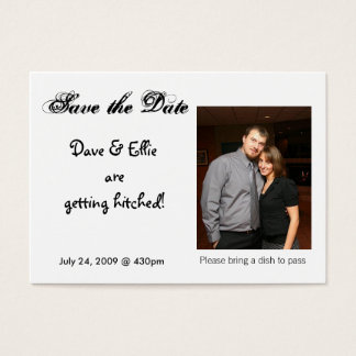 Save the Date, Dave & Ellie are g... Business Card