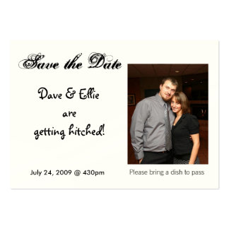 Save the Date, Dave & Ellie are g... Pack Of Chubby Business Cards