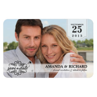 Save the Date - Deluxe Borderless Photo Magnets Magnet