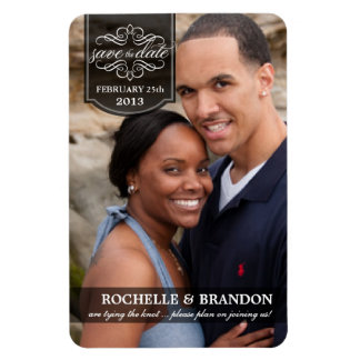 Save the Date - Deluxe Full Photo Custom Magnets Flexible Magnet