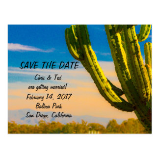 Save the Date Desert Saguaro Cactus Postcard