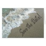 Save the Date Destination Wedding Sand Writing