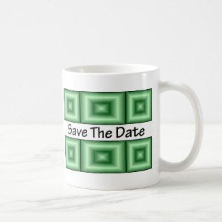 Save the Date Disco Green Coffee Mug