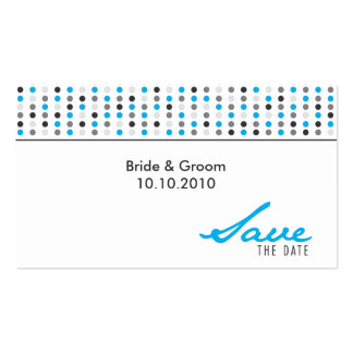 Save The Date - Dots Business Card Templates