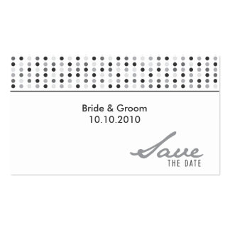 Save The Date - Dots Pack Of Standard Business Cards