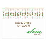 Save The Date - Dots Post Card