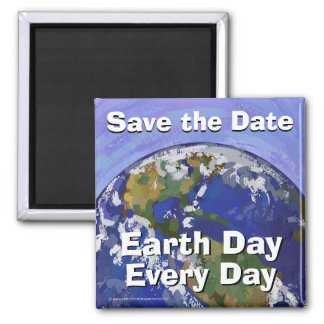 Save the Date Earth Day Magnet