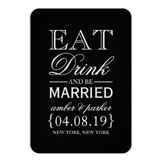 Save the Date | Eat Drink And Be Married Card