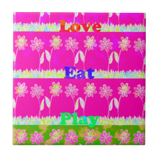 Save the date Eat Love and PLay.png Small Square Tile
