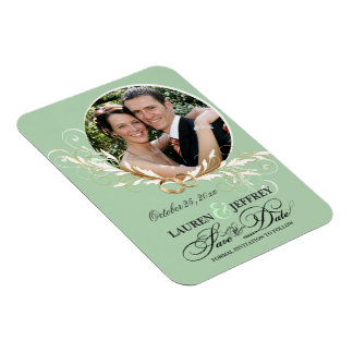Save the Date Engagement Announcement PhotoMagnets Rectangle Magnet