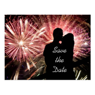 Save the Date Engagement Wedding Postcard