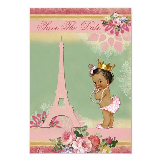 save the date ethnic princess paris baby shower card | zazzle, Baby shower invitations