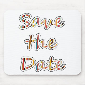 Save the Date exclusive modern design! Mouse Pad
