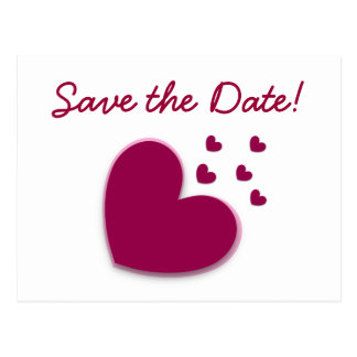 SAVE THE DATE. Explosion of Hearts A11 Post Card