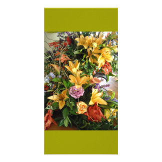 Save-the-Date/Fall Wedding Bouquet Custom Photo Card