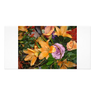 Save-the-Date Fall Wedding Bouquet Picture Card