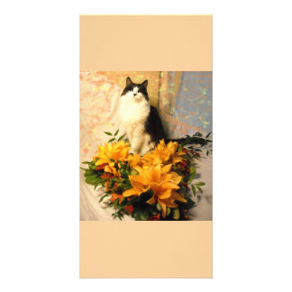 Save the Date Fall Wedding Flowers Custom Photo Card