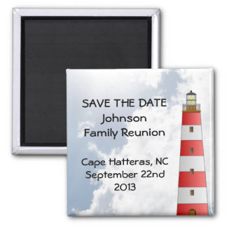 Save the Date Family Reunion Beach Sky Lighthouse Magnet